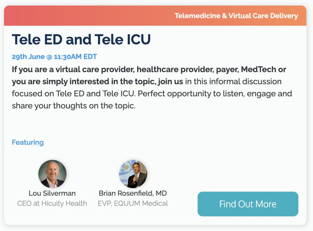 Tele ED and Tele ICU